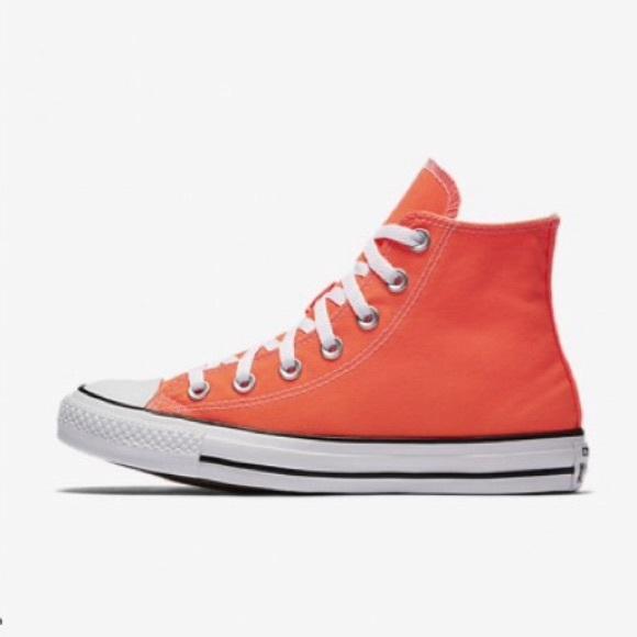 4a99044a775d Converse Other - Converse All Stars Hyper Orange High Top NWOB